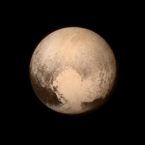The last and most detailed image of Pluto sent to Earth before the flyby. Credit NASA