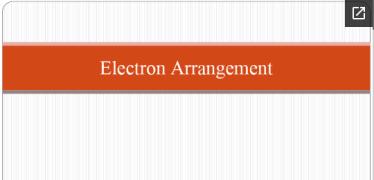 electron arrangement snip